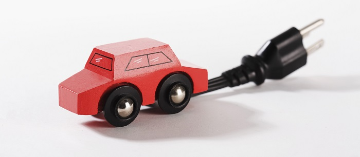 toy car with electrical plug