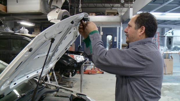 Syrian Refugee auto body mechanic