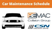 Car Maintenance Schedule Infographic