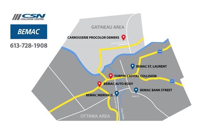 Bemac Locations Map